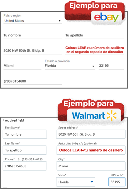 Ebay y walmart examples